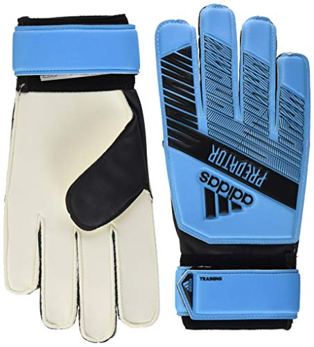 adidas Adult Predator Training Soccer Goalkeeper Gloves, Bright Cyan/Black, 12