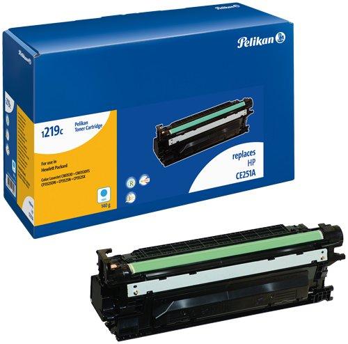 Pelikan Toner ersetzt HP CE251A (passend für Drucker HP CLJ CP 3520 / 3525 -DN / -N / -X; CM 3530 MFP / -FS; Canon 7750)