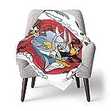 Hdadwy Looney Tunes Back in Action Manta para bebé Edredón para niños pequeños Mantas ligeras para niños Juego de cama de cuna ultra suave para el hogar