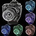 Lampada led 3d fotocamera personalizzata con nome incisa su…