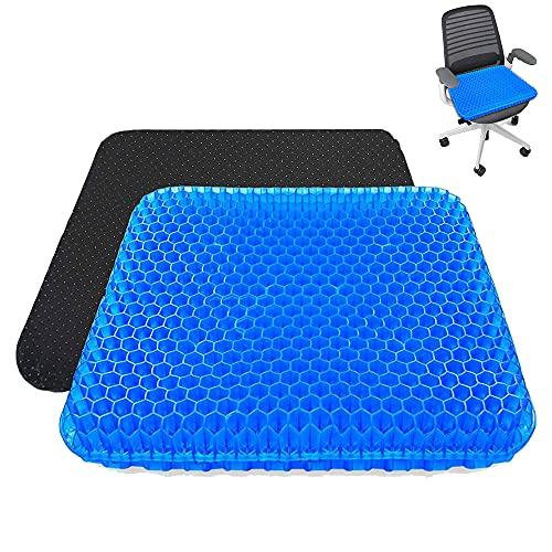 Cojines para sillas,Cojin ortopedico,cojin antiescaras para silla de ruedas,Tusscle Cojines coxis para Silla de Oficina, Sillas Gaming,Rueda,Coche,Funda Lavable, Azul