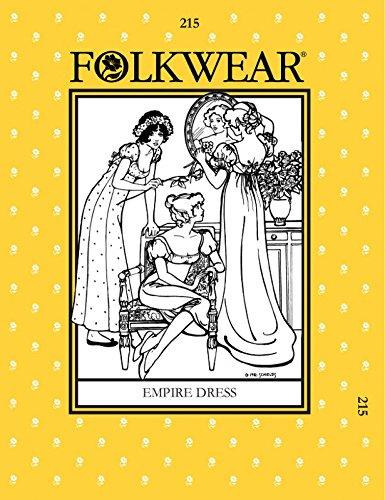 folkwear Mustern Damen Schnittmuster Empire Kleid