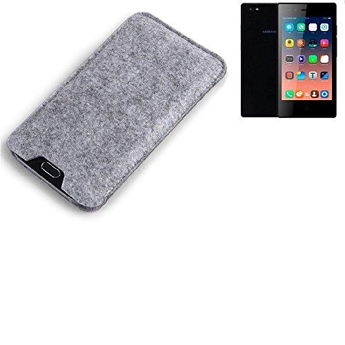 K-S-Trade® Filz Schutz Hülle Für Siswoo A5 Schutzhülle Filztasche Filz Tasche Case Sleeve Handyhülle Filzhülle Grau