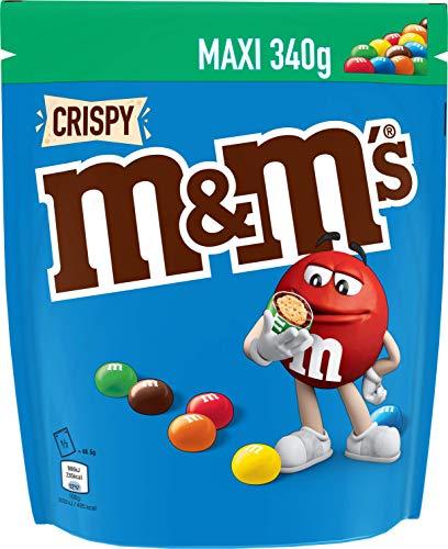 M&M's CRISPY - Billes au riz soufflé enrobé de chocolat au lait - Pochon de 340g