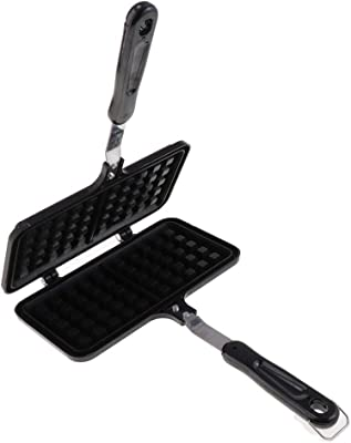 Cake Maker Non-stick Checkered Cupcake Bread Mould Bakeware Tray With Handle for Stovetop
