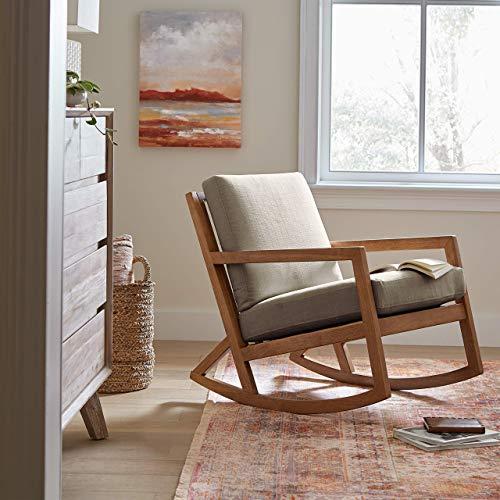 Amazon Brand – Stone & Beam Modern Hardwood Rocking Chair, 24.5