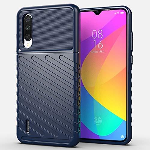 Chenshi For Xiaomi MI 9 Caja del teléfono móvil TPU Moda Lite Thunderbolt Prueba de Golpes (Negro) (Color : Dark Blue)