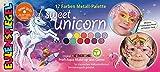 Eulenspiegel- Metall-Pallette 212264 Sweet Unicorn-Paleta de Maquillaje para niños, diseño de Unicornio, Multicolor