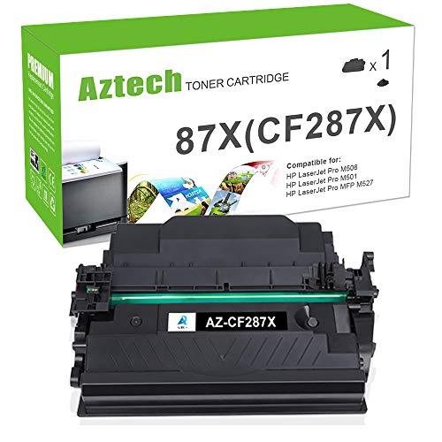 Aztech Compatible Toner Cartridge Replacement for HP 87X 87A CF287X CF287A HP Laserjet Enterprise M506 M506dn M506n Pro M501 M501dn HP M506 M506x M527 M527dn (Black, 1-Pack)