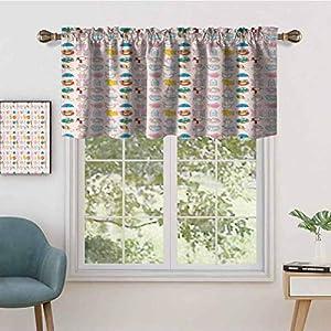 Hiiiman - Juego de 2 cortinas cortas, 137,2 x 91,4 cm, para ventana de cocina