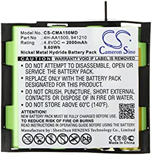 ameron Sino 2000mAh Ni-MH Compex 4H-AA1500 High-Capacity Replacement Batteries for Compex Mi, Mi-Sport, MI-Fitness, Runner, Enegry Mi-Ready, Vitality