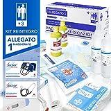 aiesi® kit di reintegro allegato 1 maggiorato pacco medicazione per cassetta armadietto di pronto soccorso aziende più 3 dipendenti # conforme dm388/dl81# made in italy