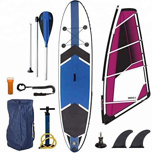 Inflable de Windsurf Stand Up Paddle Board -Junta Tabla de Surf Kayak Surf Conjunto 7'-12'6 con Bolsa de Transporte, Bomba, Kit de reparación WTZ012