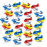 ArtCreativity Pullback Airplane Toys for Boys and Girls, Set of 24, Colorful 2 Inch Pull Back Plane Toys for Kids, Great Birthday Party Favors for Children, Goodie Bag Fillers, Gift Idea