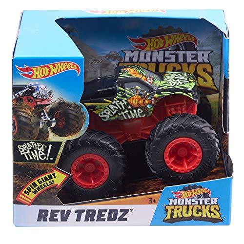 Mattel Hot Wheels FYJ74 Monster Trucks Rev Tredz Splatter Time, Coche de Juguete para niños y coleccionistas