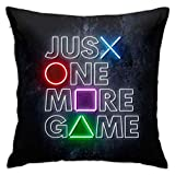Gamer Pillow Case 18'x18' Game Controller Decorative Square Throw Pillow Covers Cushion Hold for Sofa Bedroom Car Home