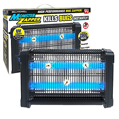 Bell + Howell Monster Zapper 2,800-Volt, 20-watts - Attracts and Kills Houseflies, Mosquitoes, Gnats - Electric Indoor Pest Control As Seen On TV