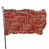 smartgood Buchstaben beschriften rote Fahne 3x5 Ft dekorative Fahne im Freien außerhalb hängende...