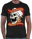 Hariz - Camiseta para hombre, diseño con texto en alemán 'Kochen Nicht Männer Grillllen Sprüchen' Negro XS