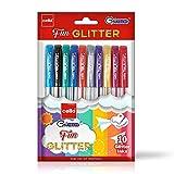 Cello Fun Glitter Gel Pen - 10 Sparkler Color Pens