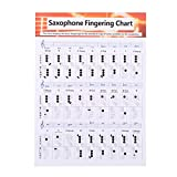 Saxophone Chart Durable Coated Paper Music Chords Poster Saxophone Fingering Chart for Teachers Students