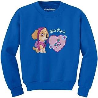 Tstars Official Paw Patrol Skye 4th Birthday Toddler/Kids Sweatshirt