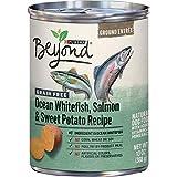 Purina Beyond Grain Free Pate Wet Dog Food, Grain Free Ocean Whitefish, Salmon & Sweet Potato - (12) 13 oz. Cans