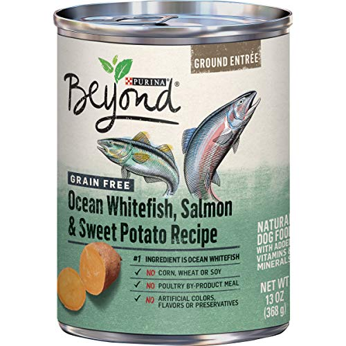 Purina Beyond Grain Free Pate Wet Dog Food, Grain Free Ocean Whitefish, Salmon & Sweet Potato - (12) 13 oz. Cans