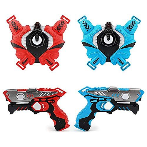 LUKAT Infrarot Laser Tag Set, 2 Pistole LaserTag-Blaster für Kinder 6+ Jungen und Mädchen, Battle Mega Pack Set Kinder-Spielzeug Perfekt für Drinnen und Draußen