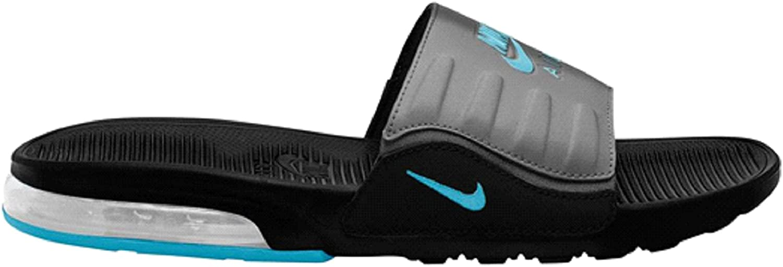 Nike Slider pour homme, (Noir/bleu chlore/gris fer), 46 EU ...