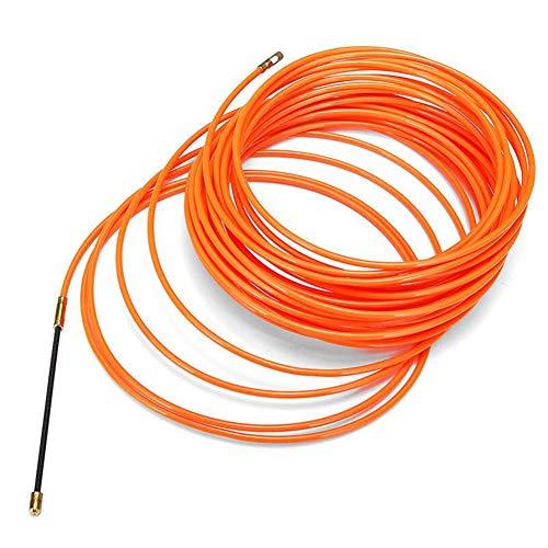 Beverl Drahteinfädler, Einfädelhilfe, elektrisches Kabel, Push-Abzieher Fischband Draht glatt für Elektriker, 5 m