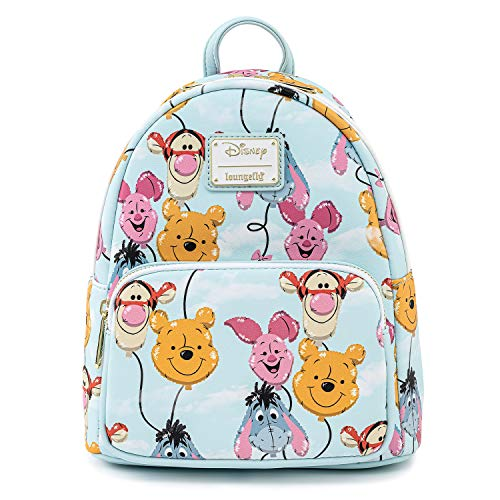 Loungefly Disney Winnie the Pooh Balloon Friends Womens Double Strap Shoulder Bag Purse