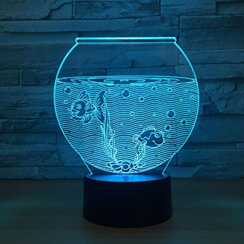 SFALHX 3D lamp nachtlicht sfeerlicht tafellamp deco LED illusie tafellamp 7 kleuren veranderende Touch Switch acryl plaat & ABS basis beste cadeaudecoratie aquarium