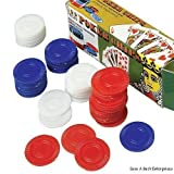 unbrand 500 Plastic Poker Chips 1 1/2 INCH Diameter RED White & Blue Retail Boxed,New