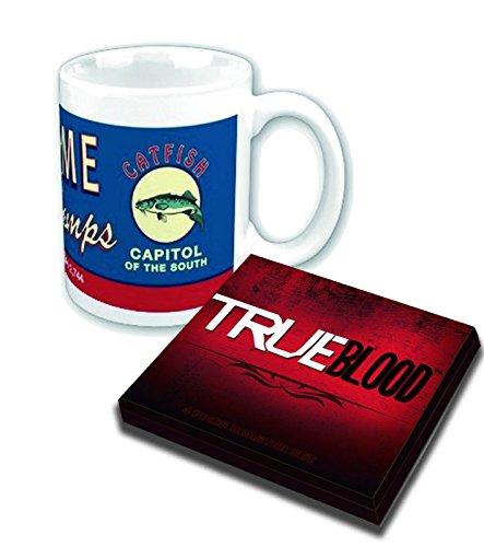 True Blood Bienvenido a Bon Temps oficial del juego de tazas y posavasos