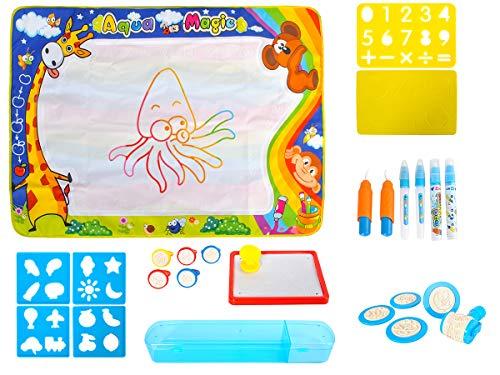 TTMOW Zaubertafel Kinder Maltafel mit Magnetische Stempel Verdicktes Lerntafel Rei/ßbrett Kindergeschenk f/ür Kinder ab 2 ab 3 Orange