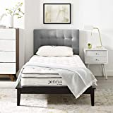 "Modway Jenna 8"" Narrow Twin Innerspring Mattress - Top Quality Quilted Pillow Top - Individually Encased Pocket Coils - 10-Year Warranty"