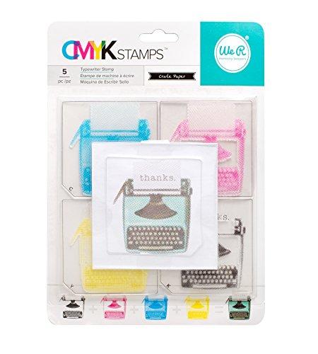 We R Memory Keepers Set De Sellos CMYK Typewriter para Precision Press, Multicolor, Talla única