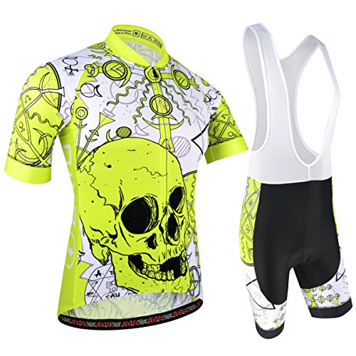 BXIO Uomini Cycling Jersey PRO Team Bike Wear Road Race,S, Giallo