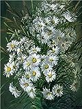Meecaa - Kit de pintura por números de crisantemo para adultos principiantes (40,6 x 50,8 cm)