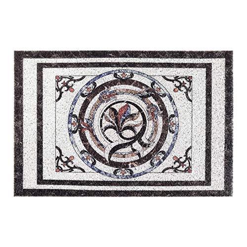 Alfombra de la puerta patrón de baldosas de mármol se puede fregar la estera del hogar, la estera de la puerta, la estera del suelo,