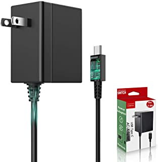 Switch ACアダプター【PSE認証済】BRONC 任天堂スイッチ 充電器 (NS ACアダプター)Type-Cコネクタ ケーブル長1.5m5V 1.5A/ 15V 2.6A出力 Switch 急速充電器/Switch Lite/Switc...