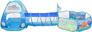 TOYANDONA 3-i-1 barn leka tältset undervattensvärld kreativa barn leker tunnel leksak för utomhus inomhus