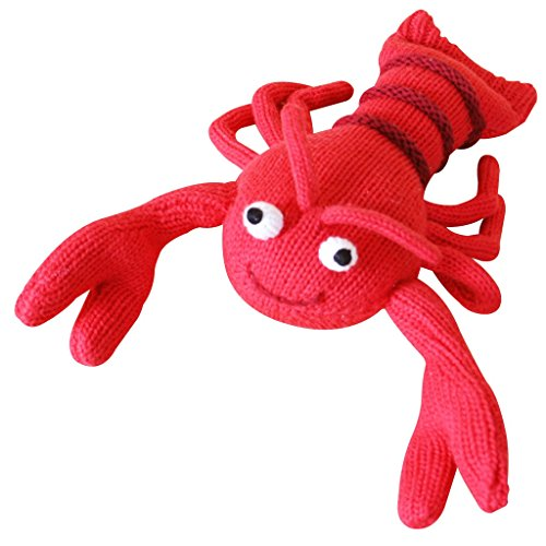 Fantastic Prices! Zubels Baby Larry The Lobster Hand-Knit Rattle Toy, All-Natural Fibers, Eco-Friend...