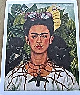 Frida Kahlo Self-Portrait with Thorns 13x10 Offset Lithograph