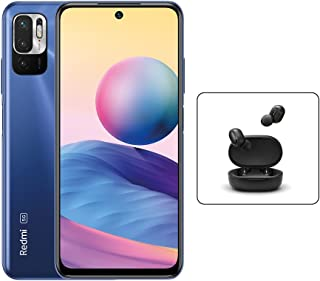 Xiaomi Redmi Note 10 5G Smartphone Dual SIM Nighttime Blue 4GB RAM 128GB LTE + Mi True Wireless Earbuds Basic 2