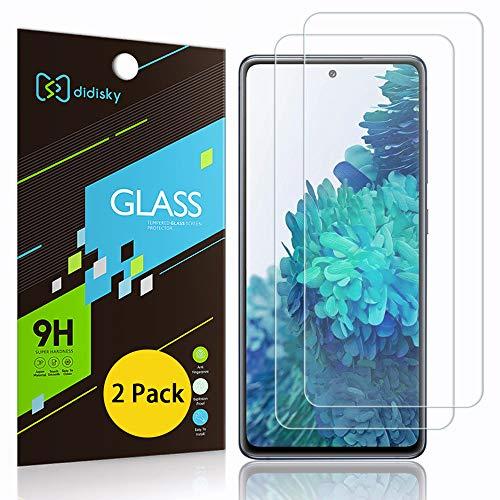 Didisky - Protector de pantalla de cristal templado para Samsung Galaxy S20 Fe/Fe 5G, [2 unidades] [toque suave] fácil de limpiar, transparente