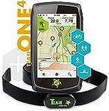 TAHUNA TEASI ONE⁴ HR Bundle - Outdoor-Navigationsgerät mit Bluetooth, Kompass und Europakarte...
