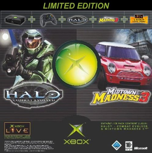 Xbox Holiday Bundle (Xbox plus Halo, Midtown Madness 3 und Xbox-Live-Zugang für 2 Monate)