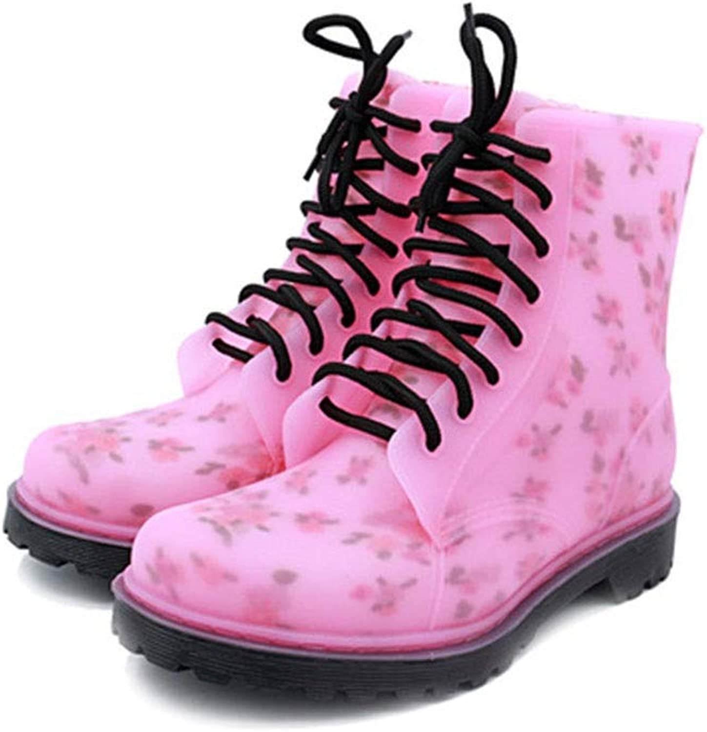 FXNN Rain Boots - Non-Slip wear-Resistant Mountaineering Boots Round Head in The Rubber shoes